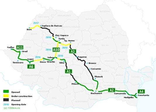 Autosnelweg Transylvania wordt voltooid in 2020